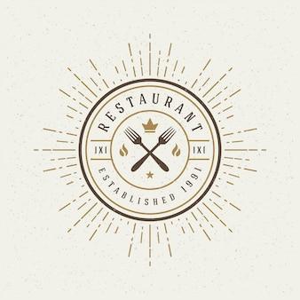 Logotype de magasin de restaurant