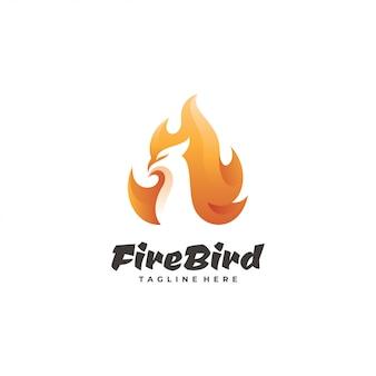 Logotype oiseau de feu