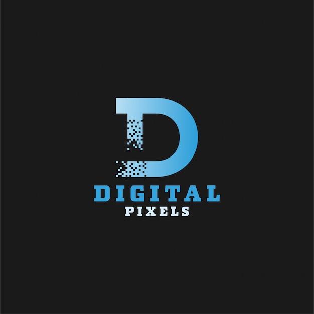 Logotype de pixels numériques