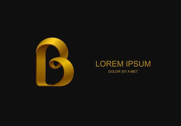 Logotype sous la forme de la lettre «b», idée de logo d'entreprise stylisée abstraite,