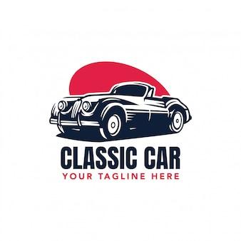 Logotype de vecteur de voiture classique