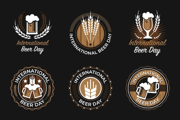 Logotypes et badges de la journée internationale de la bière