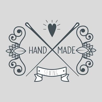 Logotypes et étiquettes faits à la main vintage