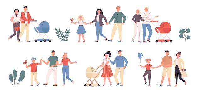 Loisirs en famille, divertissement, promenade à l'extérieur
