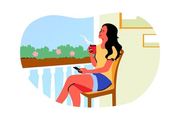 Loisirs, week-end, rêve, pensée, concept d'été
