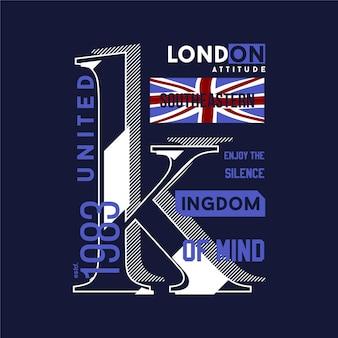 Londres royaume uni conception graphique typographie résumé drapeau t-shirt style moderne