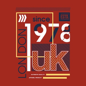 Londres royaume-uni urbain cool t shirt design