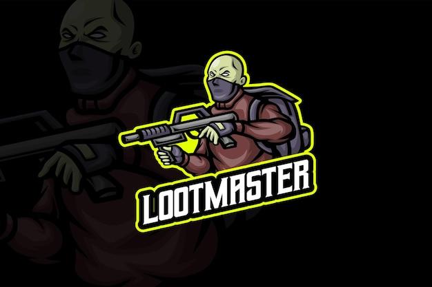 Loot master - modèle de logo esport