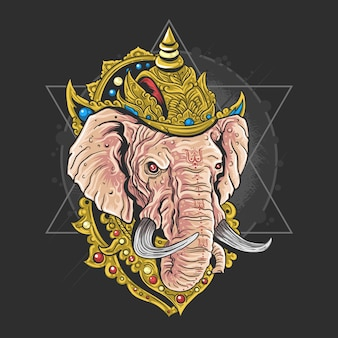 Lord ganesha hindu god artwork vector