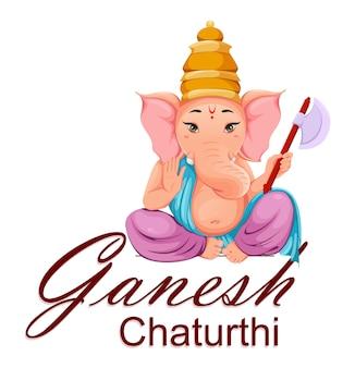 Lord ganesha, idole en vêtements traditionnels indiens