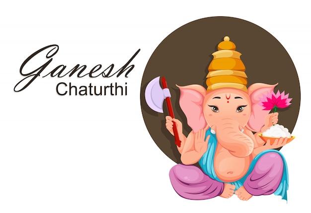 Lord ganesha pour les vacances de ganesha chaturthi