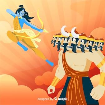 Lord rama et le personnage de ravana
