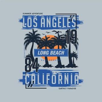 Los angeles californie sur le thème de l'été conception de t-shirt design graphique