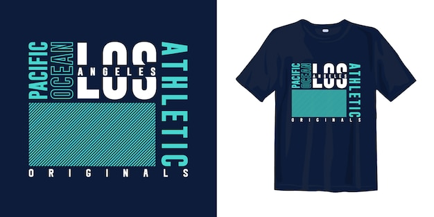 Los angeles, océan pacifique. conception de t-shirt de mode de typographie abstraite pour l'impression
