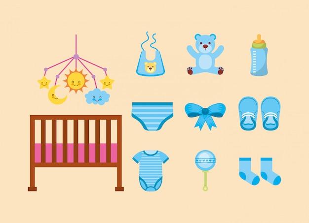 Lot d'accessoires bébé mignons