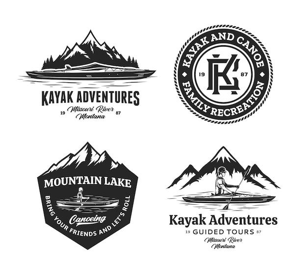 Lot de badges de canoë-kayak