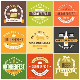 Lot de badges décoratifs oktoberfest