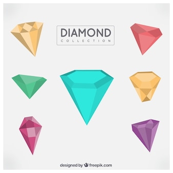 Lot de diamants géométriques colorés