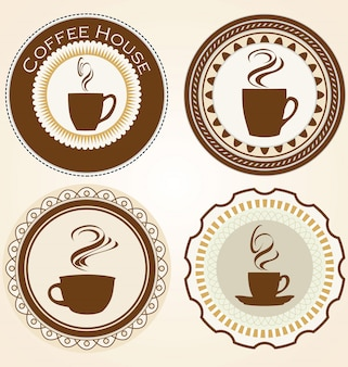 Lot d'étiquettes café et thé