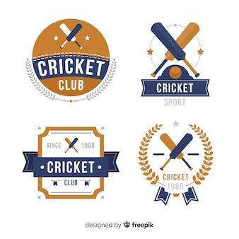 Lot d'étiquettes de cricket