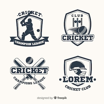 Lot d'étiquettes de cricket