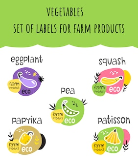 Lot d'étiquettes pour éco-produits