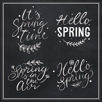Lot d'étiquettes à thème printemps