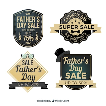 Lot d'étiquettes de vente de fête des pères