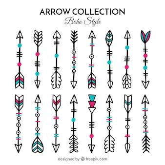 Lot de flèches boho dessinés à la main