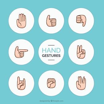 Lot de gestes de la main