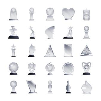 Lot d'icônes de trophées