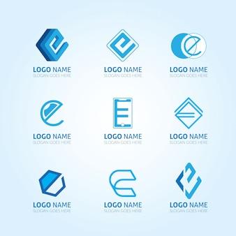 Lot de lettre e logo