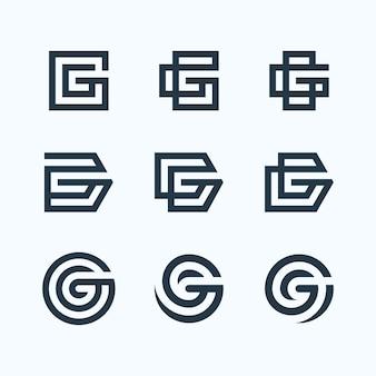 Lot de logo lettre g