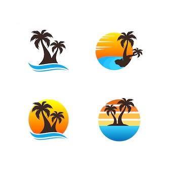 Lot de logo de plage