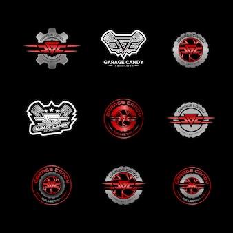 Lot de logos de garage