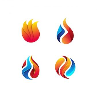 Lot de logos de pétrole et de gaz