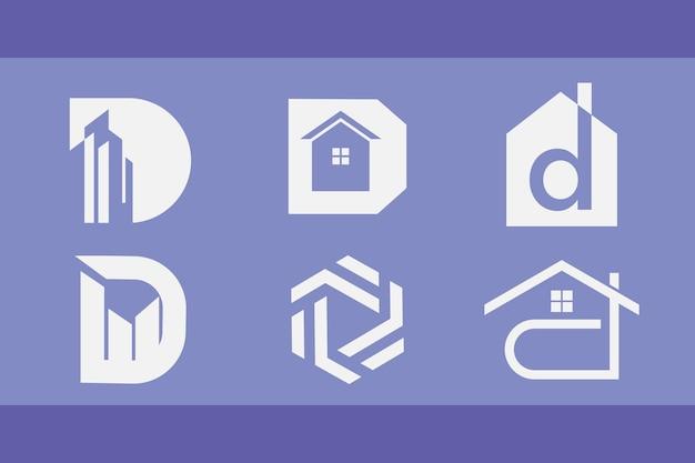 Lot de logos pour le bâtiment et l'immobilier