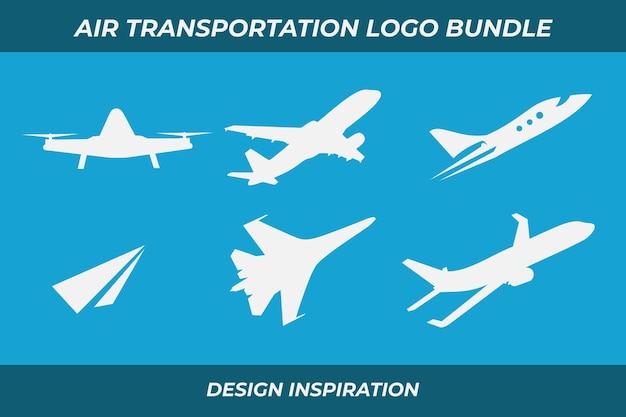 Lot de logos de transport aérien