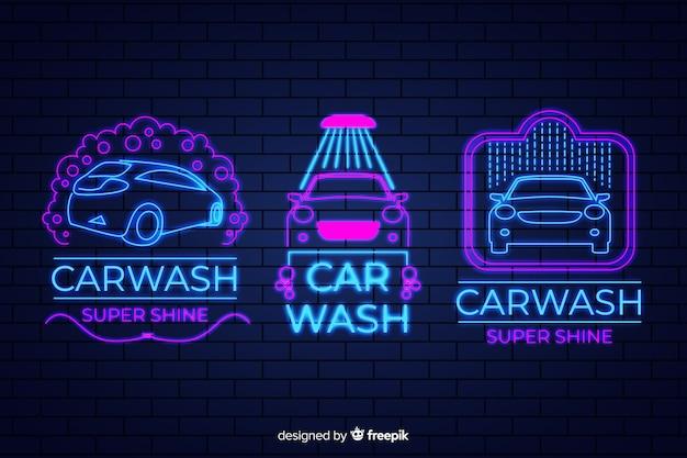 Lot de pancartes lave-auto