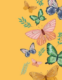 Lot de papillons mignons