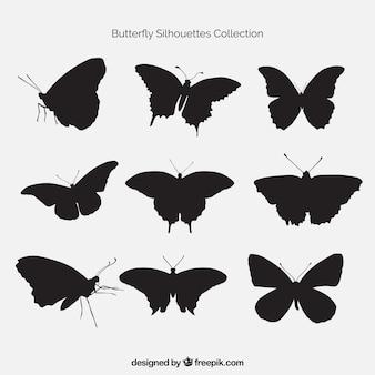 Lot de papillons silhouettes