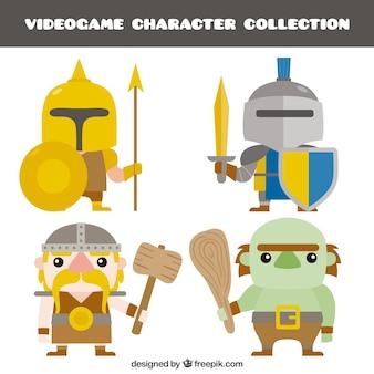 Lot de personnages de jeu vidéo