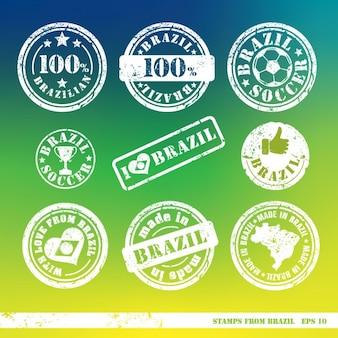 Lot de timbres des éléments brésil vecteur pour la conception de la vôtre