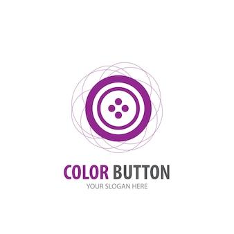 Lothes bouton logo pour entreprise. conception simple d'idée de logotype de bouton ð¡lothes. concept d'identité d'entreprise. icône de bouton creative lothes de la collection d'accessoires.