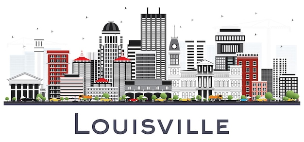 Louisville kentucky usa sur les toits de la ville avec des bâtiments gris