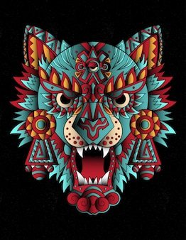 Loup actec mexique art
