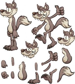 Loup de dessin animé