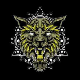 Loup dieu géométrie sacrée