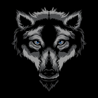 Loup illustration vectorielle