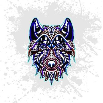 Loup de motif décoratif abstrait
